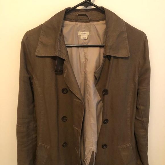 M0851 beige trench coat